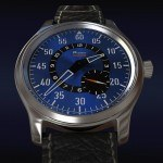 scaled.aviator blue dial