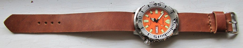 Cloudy Sky Leather Strap (5)