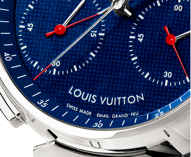 Louis-Vuitton-Tambour-Twin-Chrono-Email-Grand-Feu-Dial