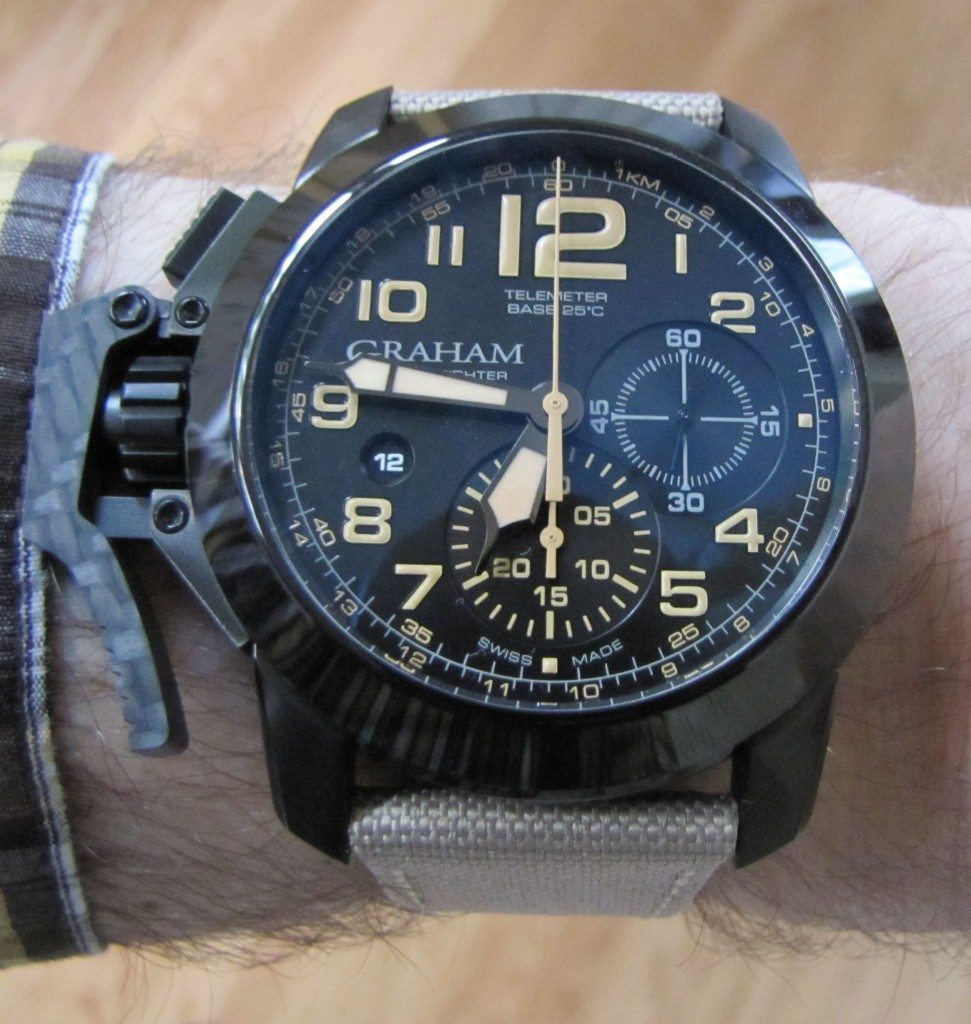 Graham Chronofighter Oversize Black Sahara (5)