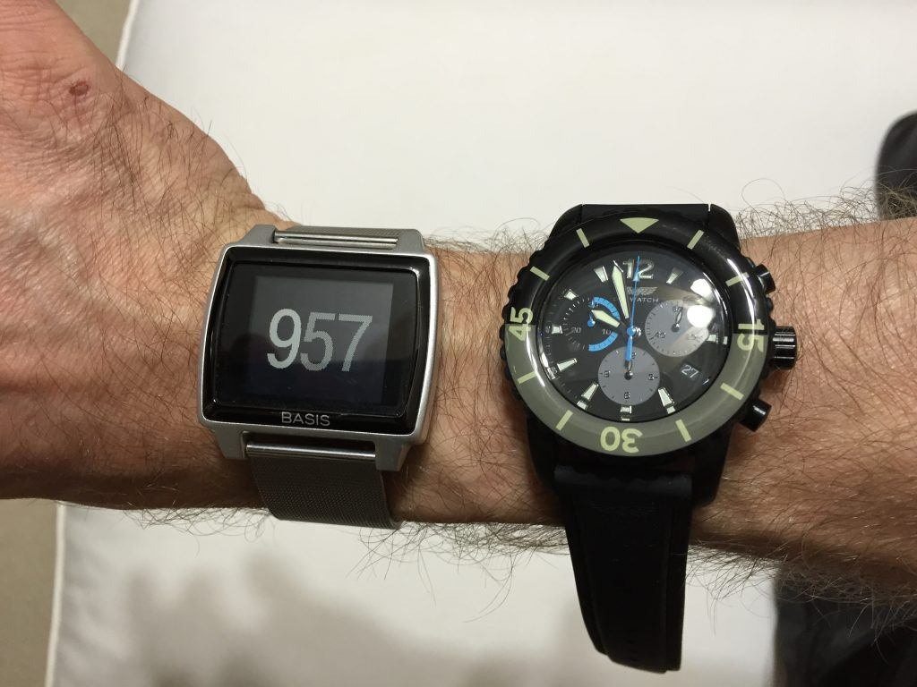 Basis Peak compared to the Sky Watch