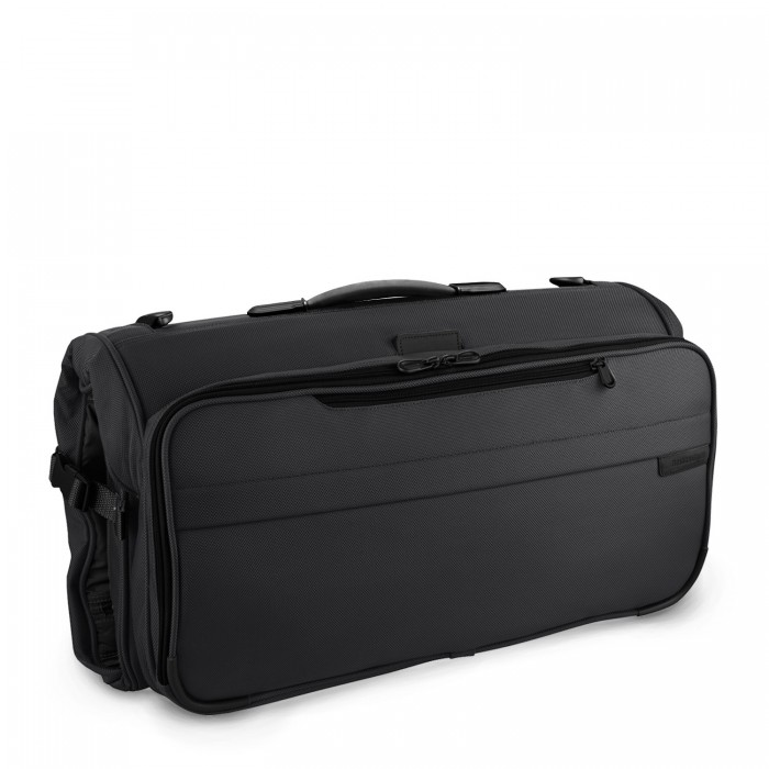 The Briggs and Riley Tri-fold compact garment bag. Nice. Easy.